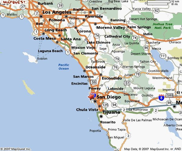 Southerncaliforniabeachesmap A DAFT Life - Mapquest oceanside ca