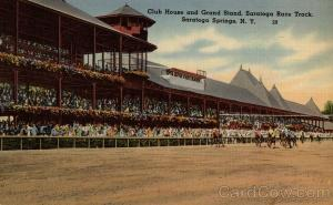 Club House and Grand Stand, Saratoga Race Track Saratoga Springs